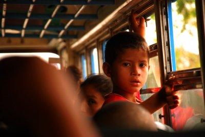 A kid in the bus - Guasaule - Nicaragua