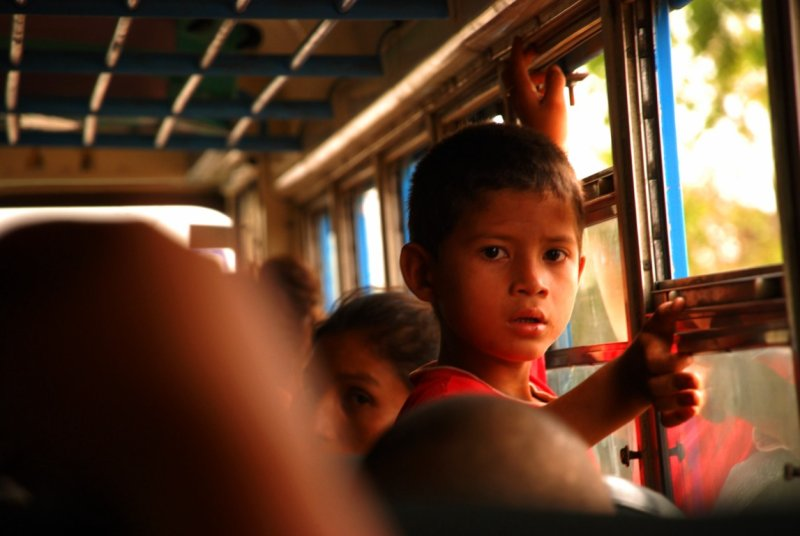 A kid in the bus - Guasaule - Nicaragua