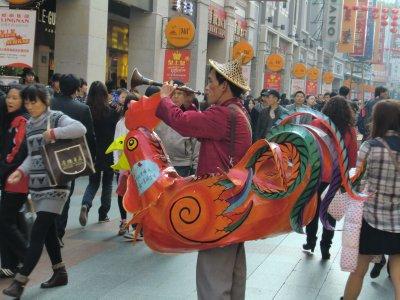 Rooster Man in Guangzhou