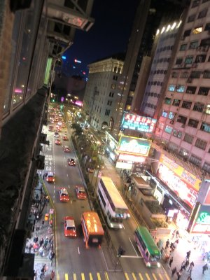 View from Hostel Chungking Mansions HK