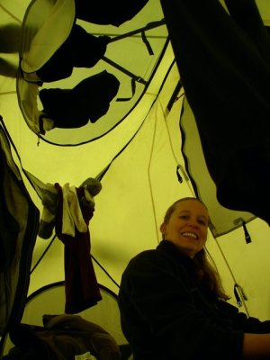Life in our tent