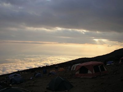 Camping above the clouds at Karanga