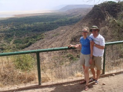 Us and the Ngorongoro crater
