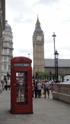 Phone Box and Big Ben, London, UK