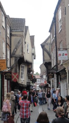 The Shambles, famous street in York, UK
