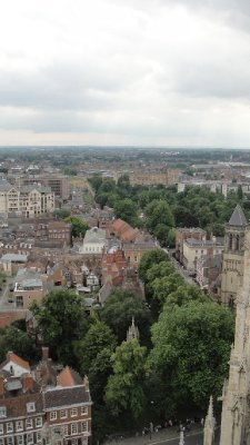 York from York Minster tower, UK