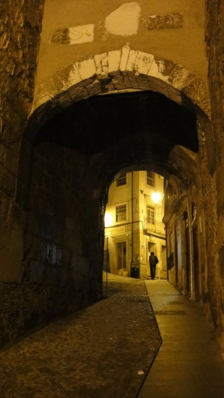 Arch in path to University, Coimbra, Portugal