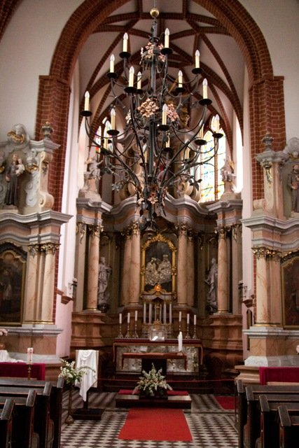 Inside St. Anne's Church, Vilnius