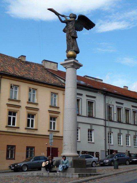 The angel status in Uzupis square, Vilnius