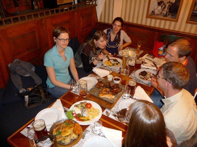 Dinner at Lokys, Vilnius