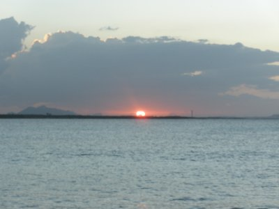 Sunset from our resort, Cuba