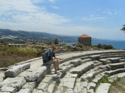 Theatre at the old castle in Byblos, Lebanon