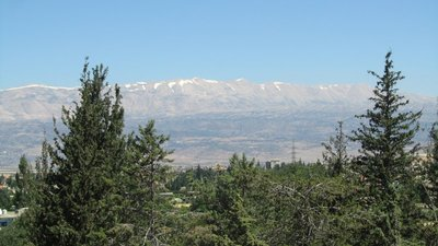 View from Baalbek, lebanon