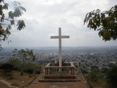 Up the hill overlooking Holguein, Cuba
