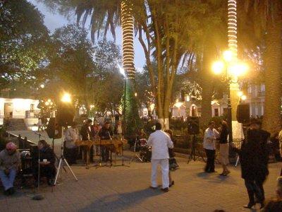 Street dancing in San Christobal