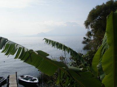 View from hotel, Santa Cruz, Lake Atitlan