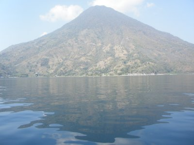 View from the boat to Santiago Del Atitlan