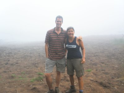 Us in the crater