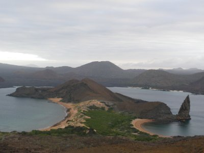 View over the Galapagos Islands