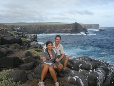 Us in Espanola. In the Galapagos Islands