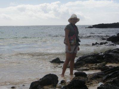 Marsha on the island of Floreana
