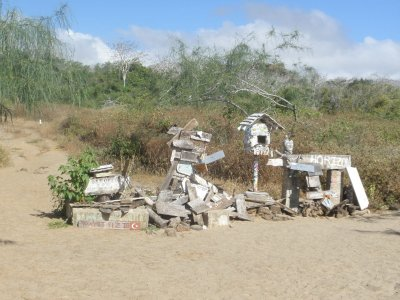Post Office Bay. In the Galapagos Islands.