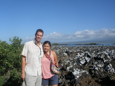 Us in the volcanic island of Isabella
