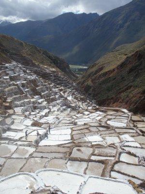 Salt flats outside Cusco.