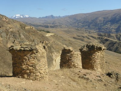 Ancient burial ground in the Andes.
