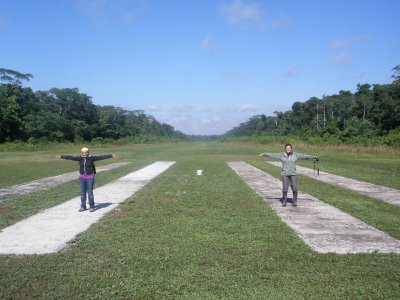 International airport. Manu National Park, The Amazon Rainforest.