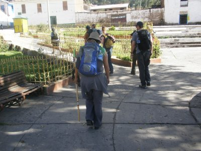Our first few steps. Day 1. Walking to Machu Picchu.