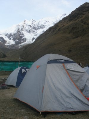 Campsite day 1. Walking to Machu Picchu.