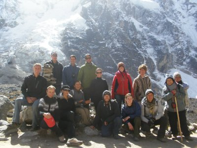 The tour group at the top. 4700 metres. Day 2. Walking to Machu Picchu.