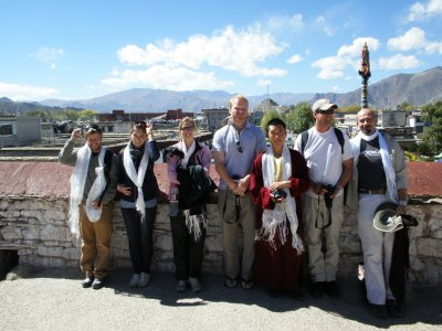 Some of the tour group in Tibet
