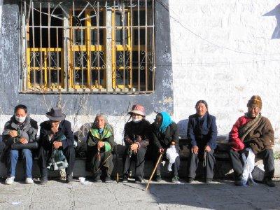 Tibetan people at the Potala Palace