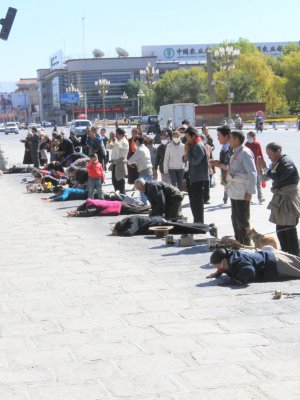 Protestations to the Potala Palace, Tibet
