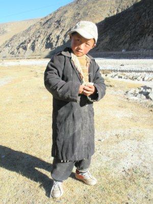 Tibetan young boy