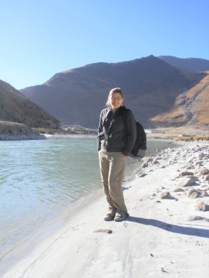 Marsha en route to the Himalayas
