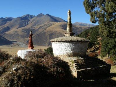 Reting monastery countryside