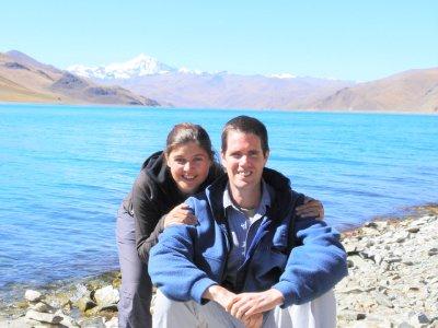 Us by a lake