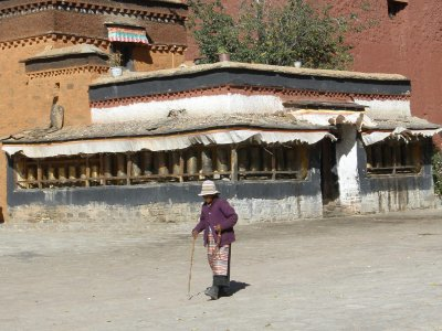 Old lady in the monastery