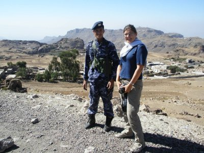 Yemeni policeman and Marsha