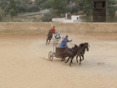 Chariot racing in Jerash