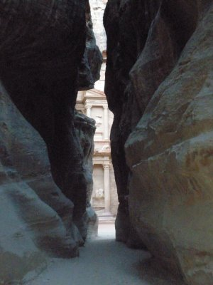 The Treasury from the siq, Petra