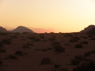 Sunset at Wadi Rum