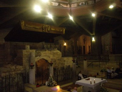 Inside the church where the Angel Gabriel and Mary chatted