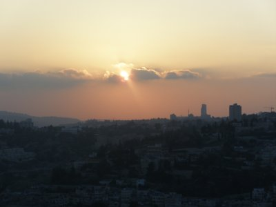 Sunset over Jerusalem from the Mount of Olives