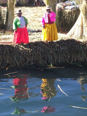 Welcome to the Floating Islands, Lake Titicaca