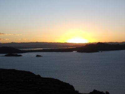 Sunset, Lake Titicaca