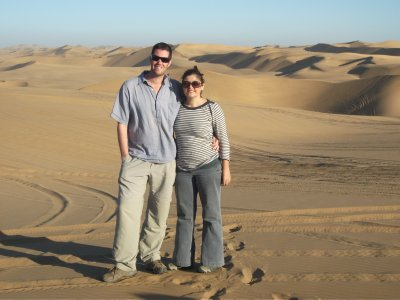 Us in the dunes, Namibia